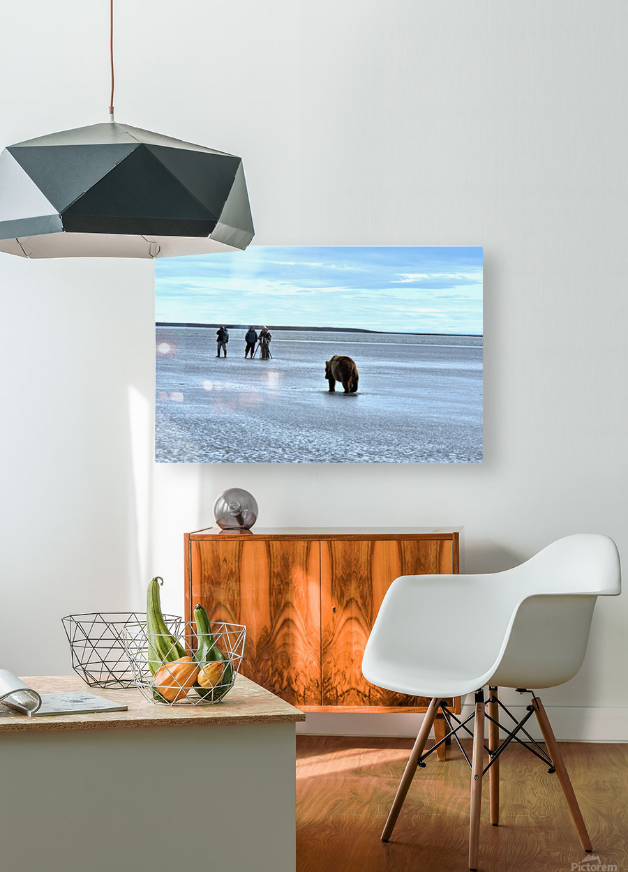 Stay Calm  HD Metal print with Floating Frame on Back