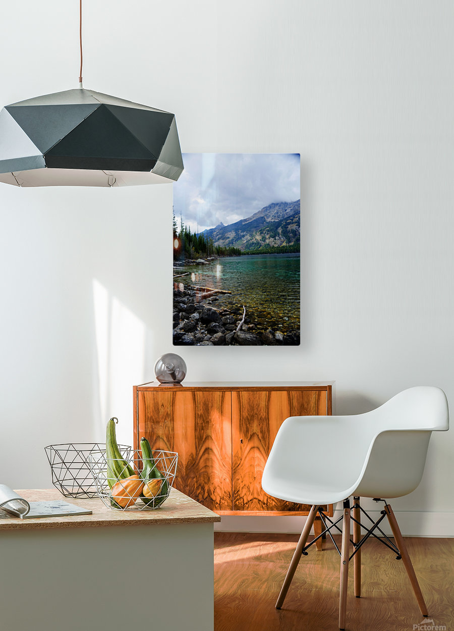 Jenny Lake   Jackson Hole  HD Metal print with Floating Frame on Back