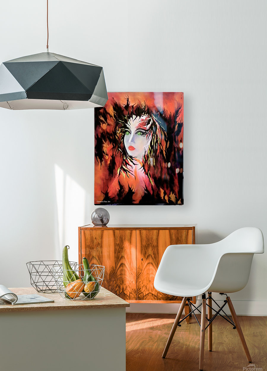 Lonely Angel of God  HD Metal print with Floating Frame on Back