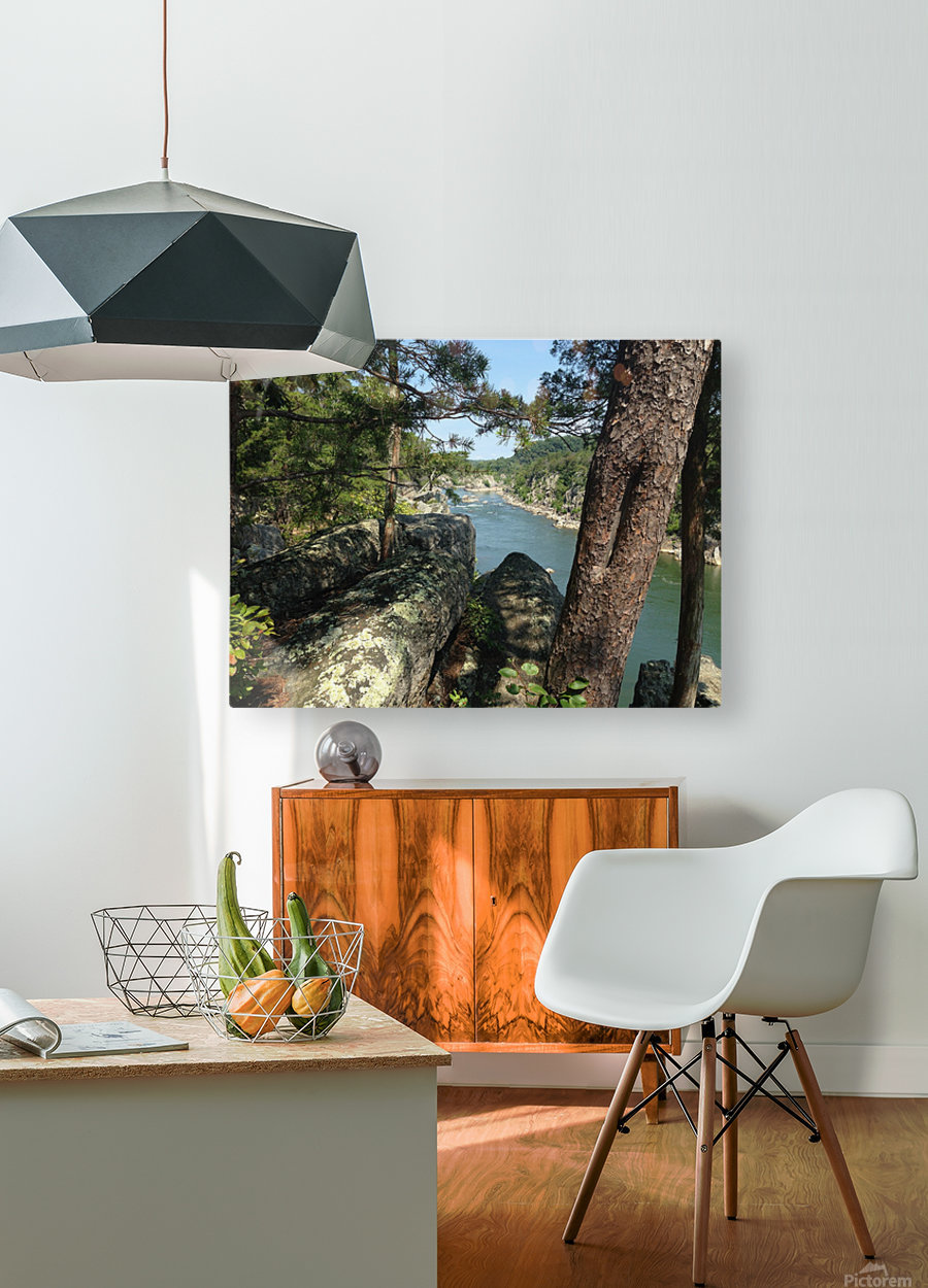 View of the Potomac at Great Falls  HD Metal print with Floating Frame on Back
