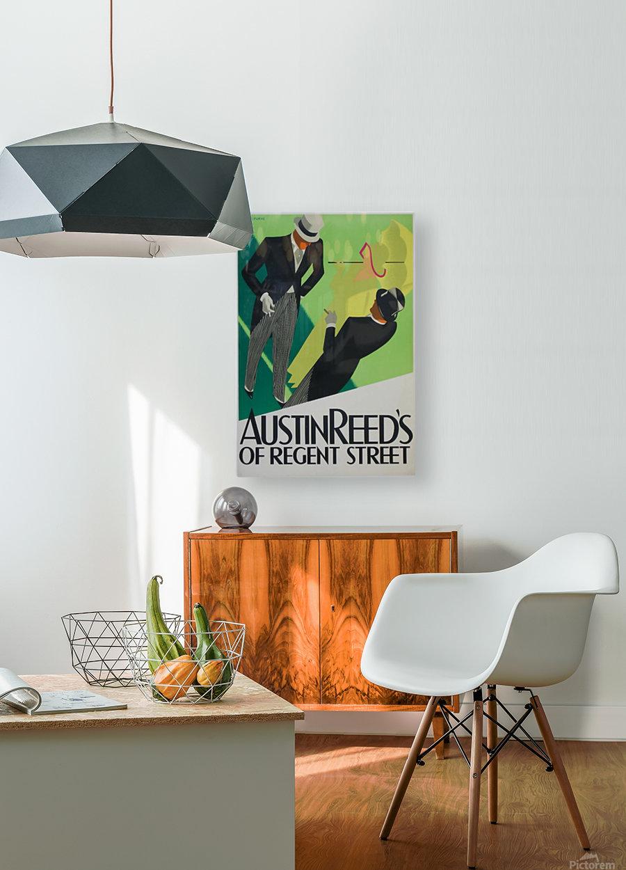 Austin Reed of Regent Street poster  HD Metal print with Floating Frame on Back