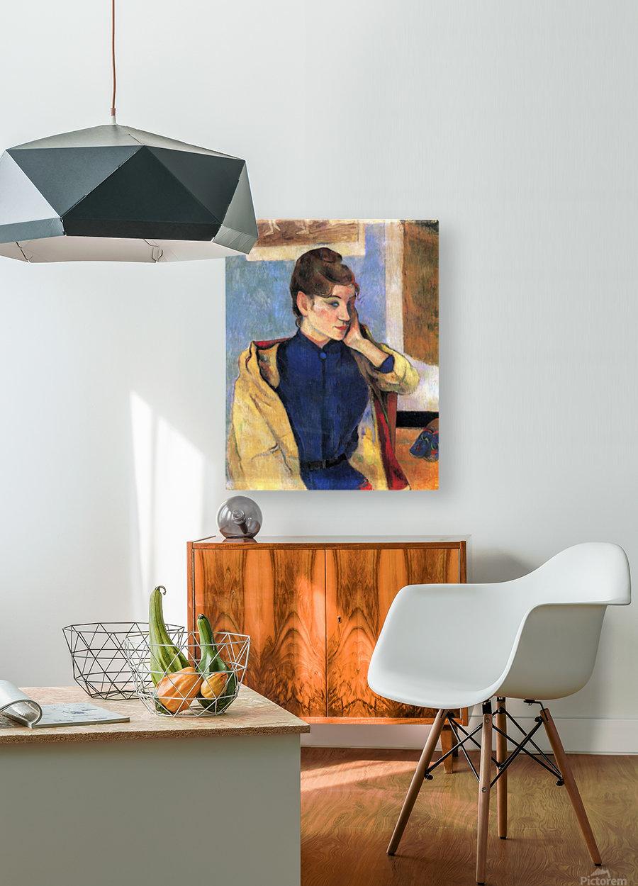 Madeleine Bernard by Gauguin  HD Metal print with Floating Frame on Back