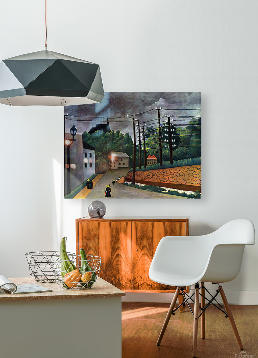 Malakoff by Henri Rousseau  HD Metal print with Floating Frame on Back
