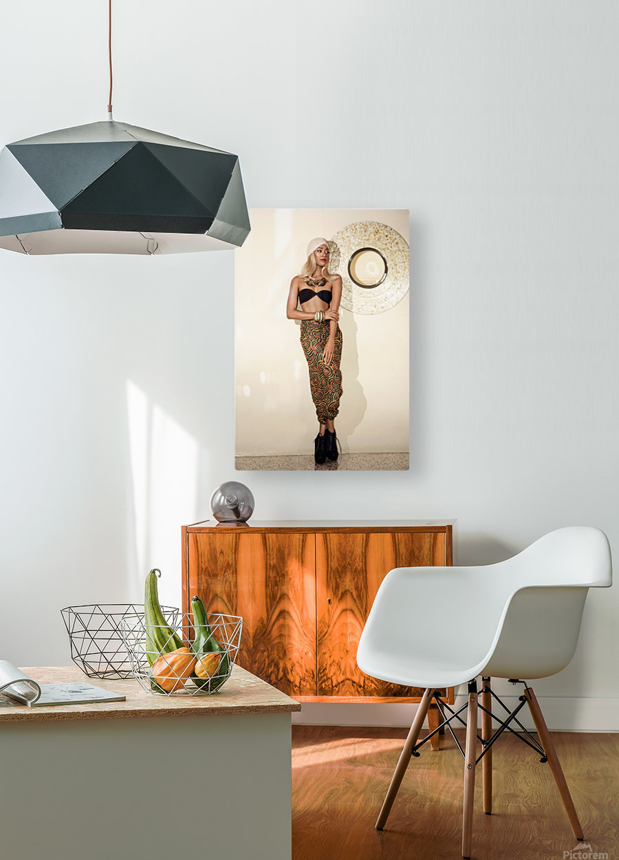 Turbanista  HD Metal print with Floating Frame on Back