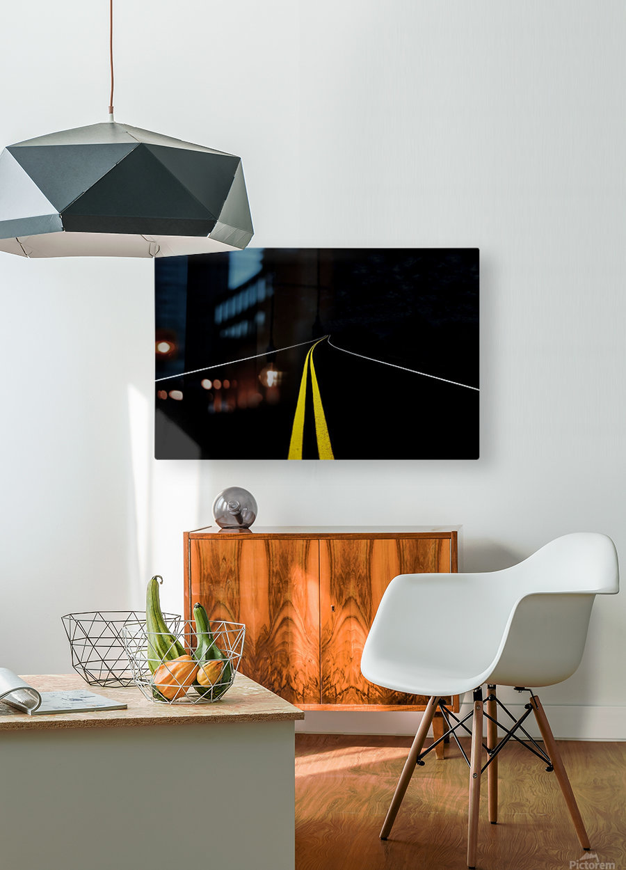 The Road to Nowhere  HD Metal print with Floating Frame on Back