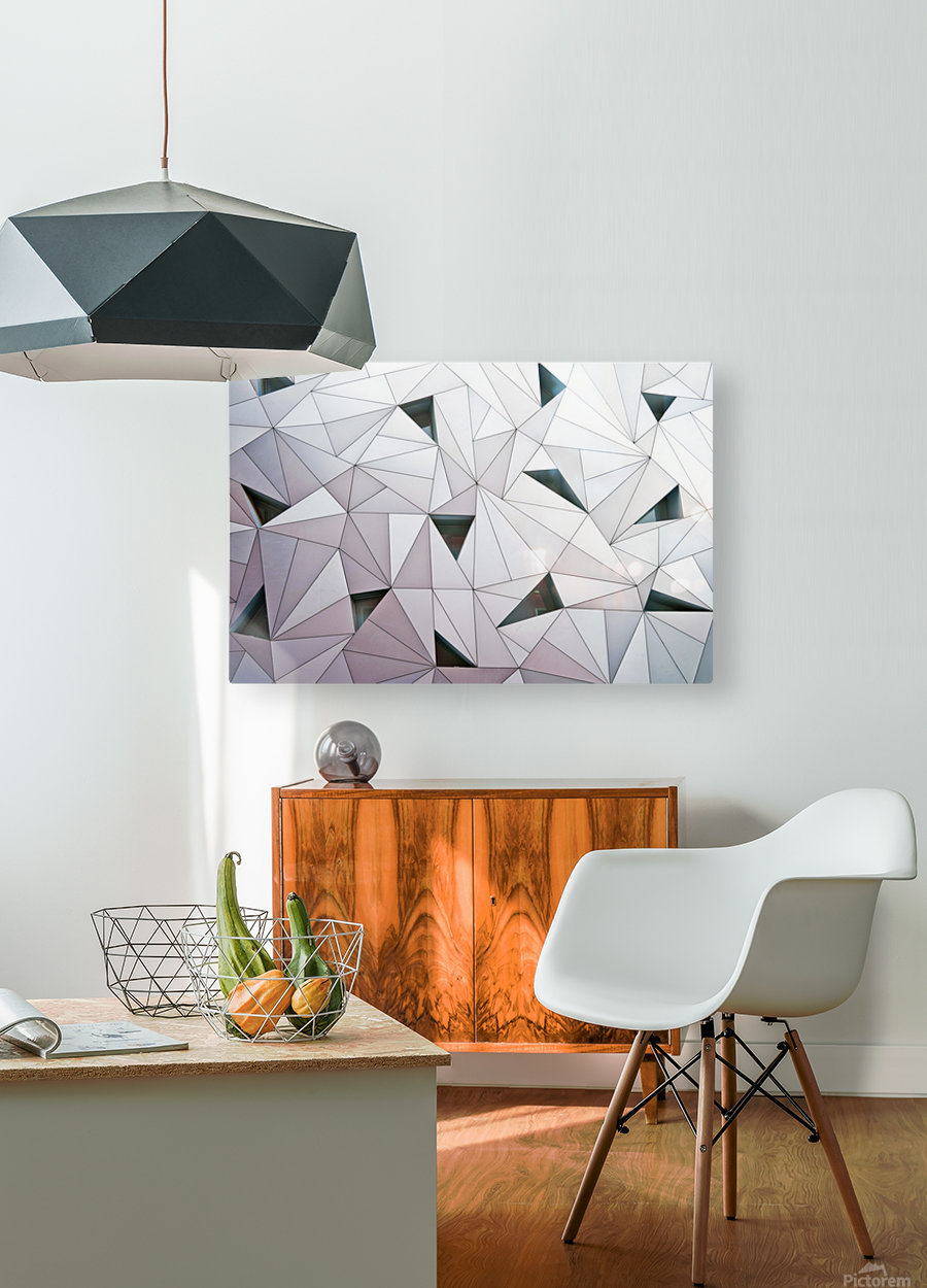 triangulation 1  HD Metal print with Floating Frame on Back