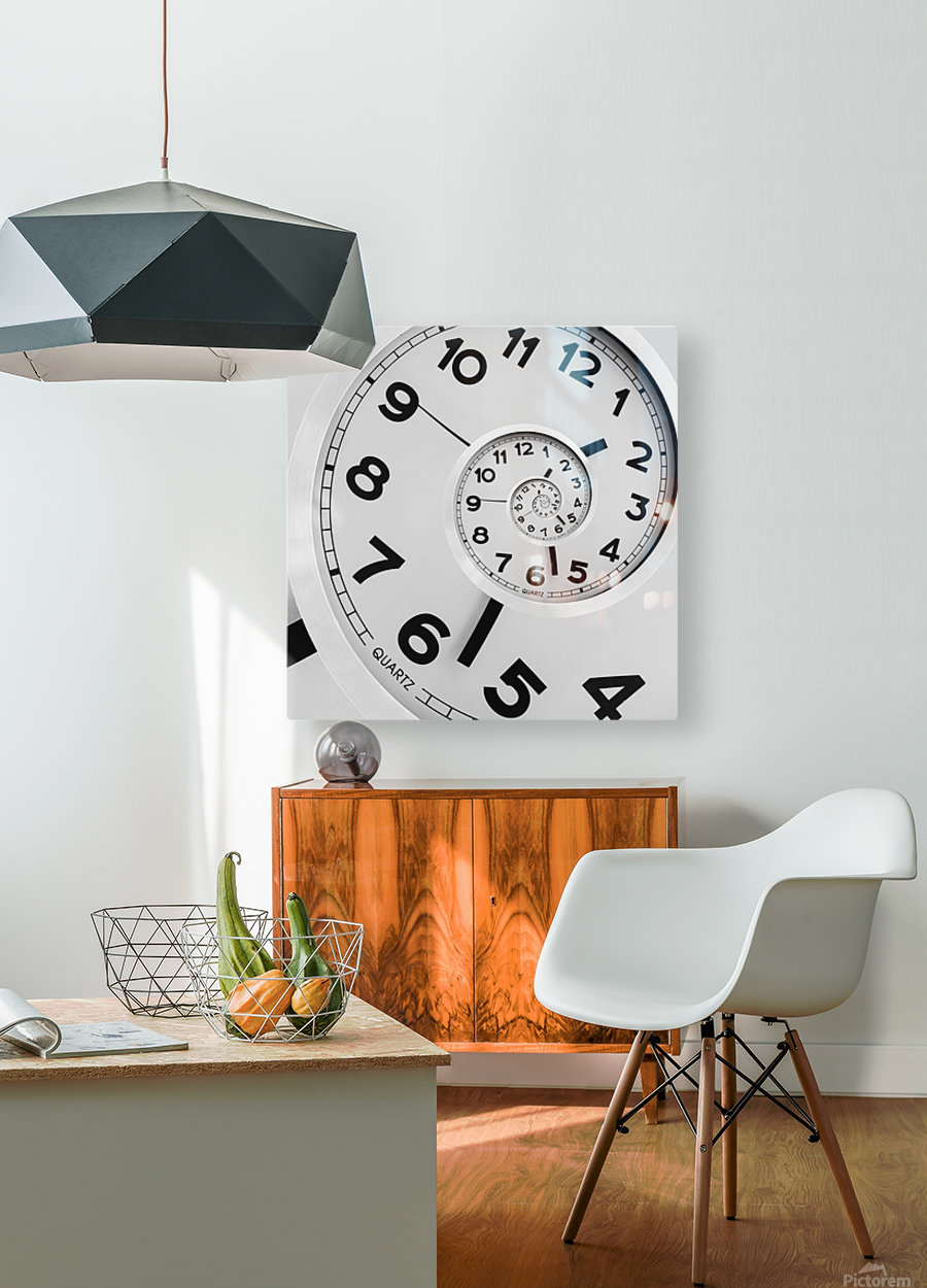 Time  HD Metal print with Floating Frame on Back