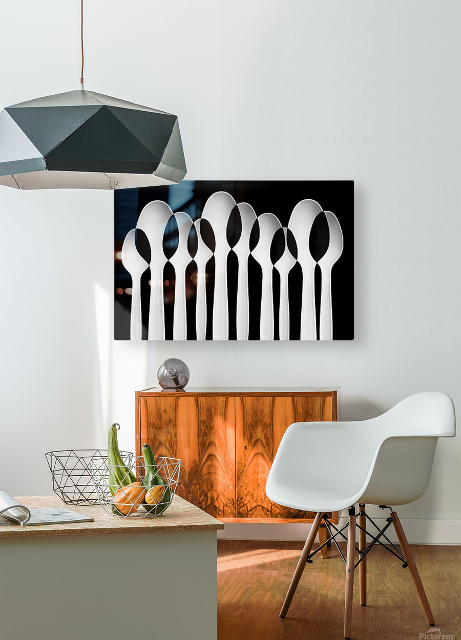 Spoons Abstract:  Forest  HD Metal print with Floating Frame on Back
