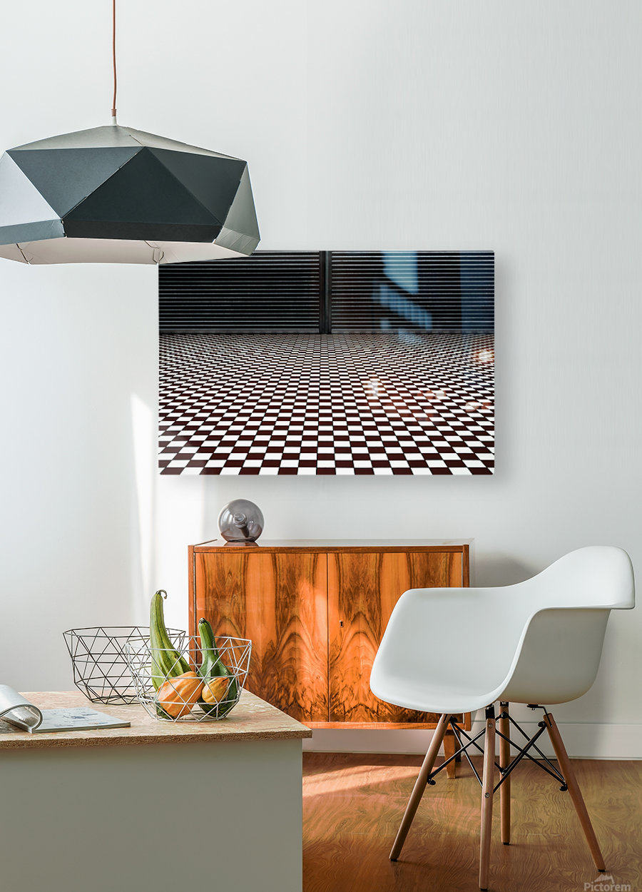 the hypnotic floor  Impression métal HD avec cadre flottant sur le dos