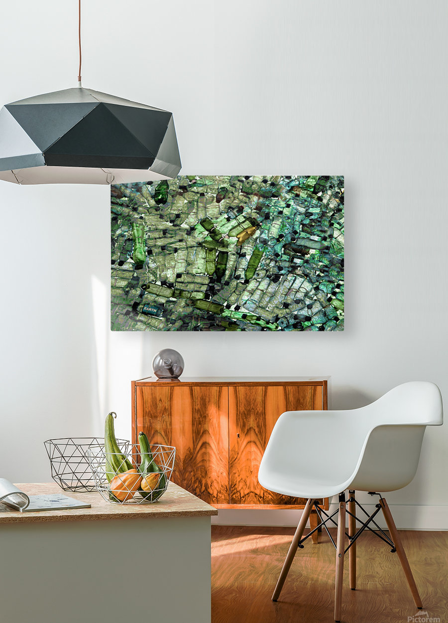 Earth  HD Metal print with Floating Frame on Back