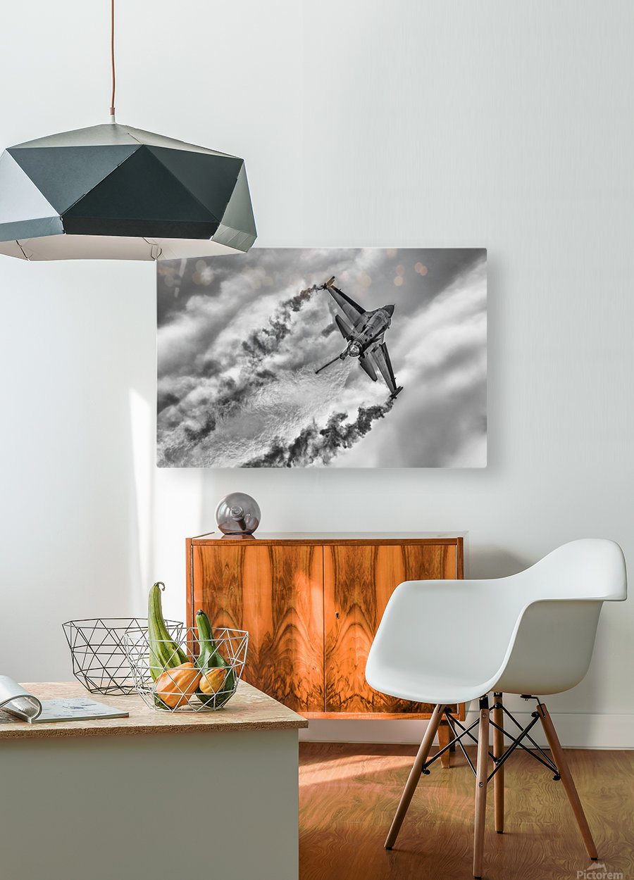 F-16 Solo Turk...  HD Metal print with Floating Frame on Back
