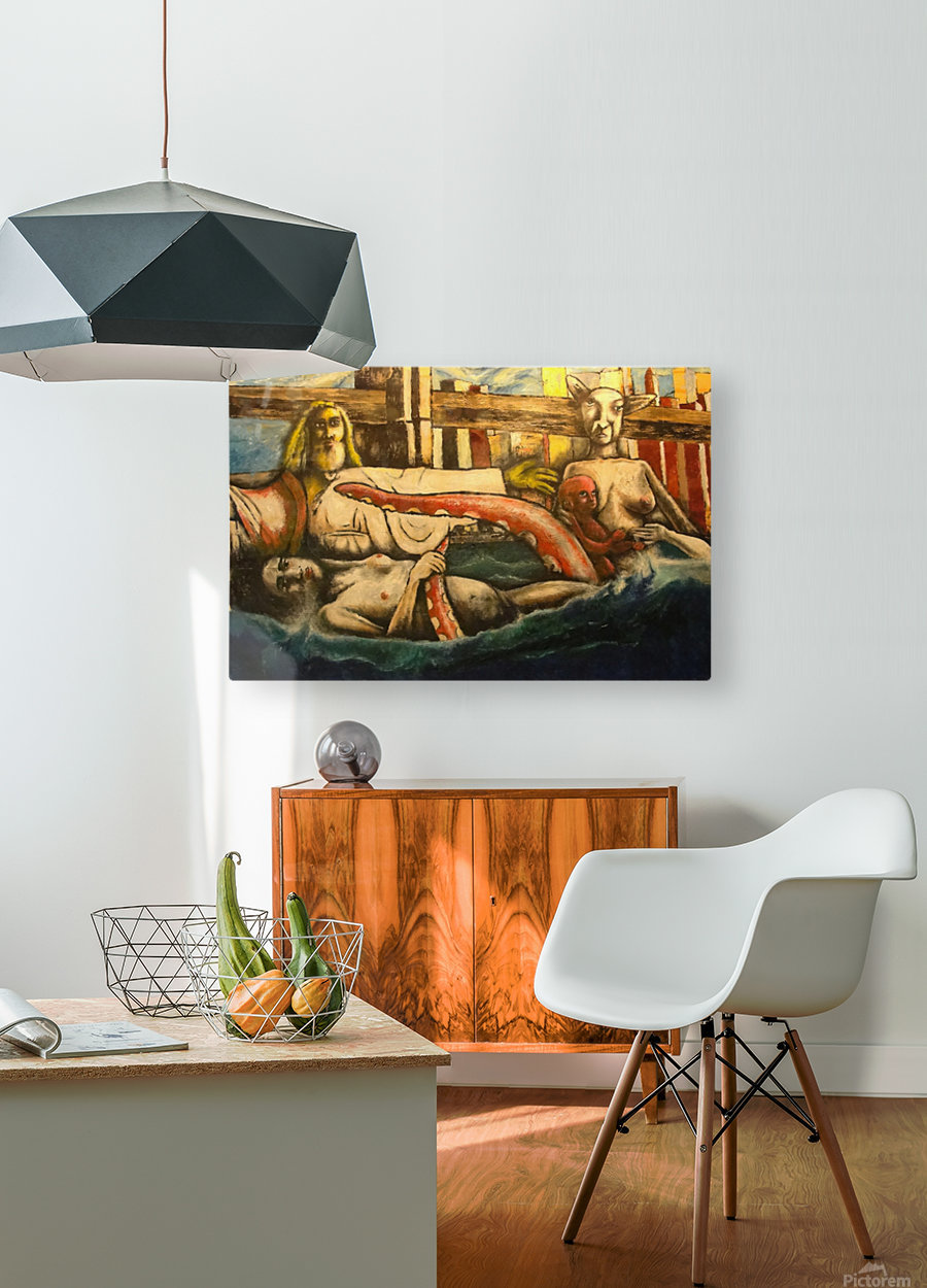Baptism by the Brooklyn Bridge  HD Metal print with Floating Frame on Back