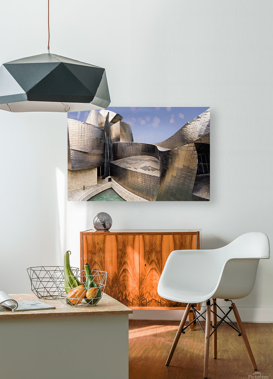 undulation  HD Metal print with Floating Frame on Back
