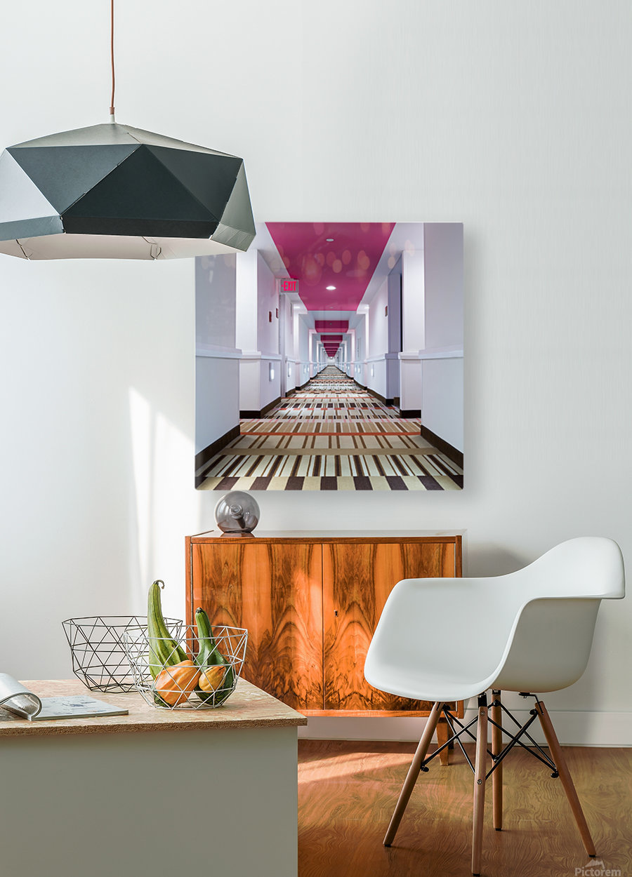 Exit  HD Metal print with Floating Frame on Back