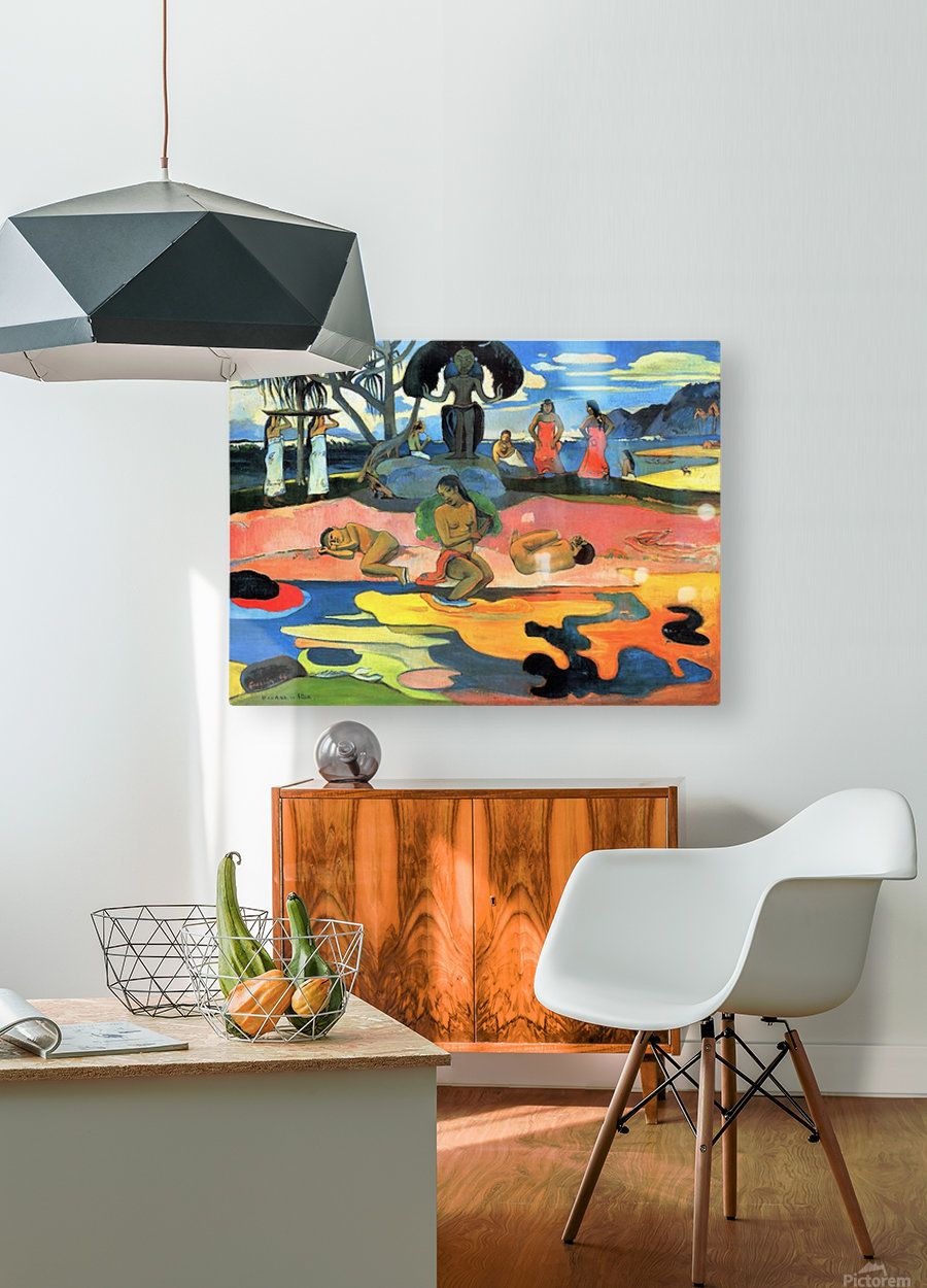 Mohana no Atua by Gauguin  HD Metal print with Floating Frame on Back