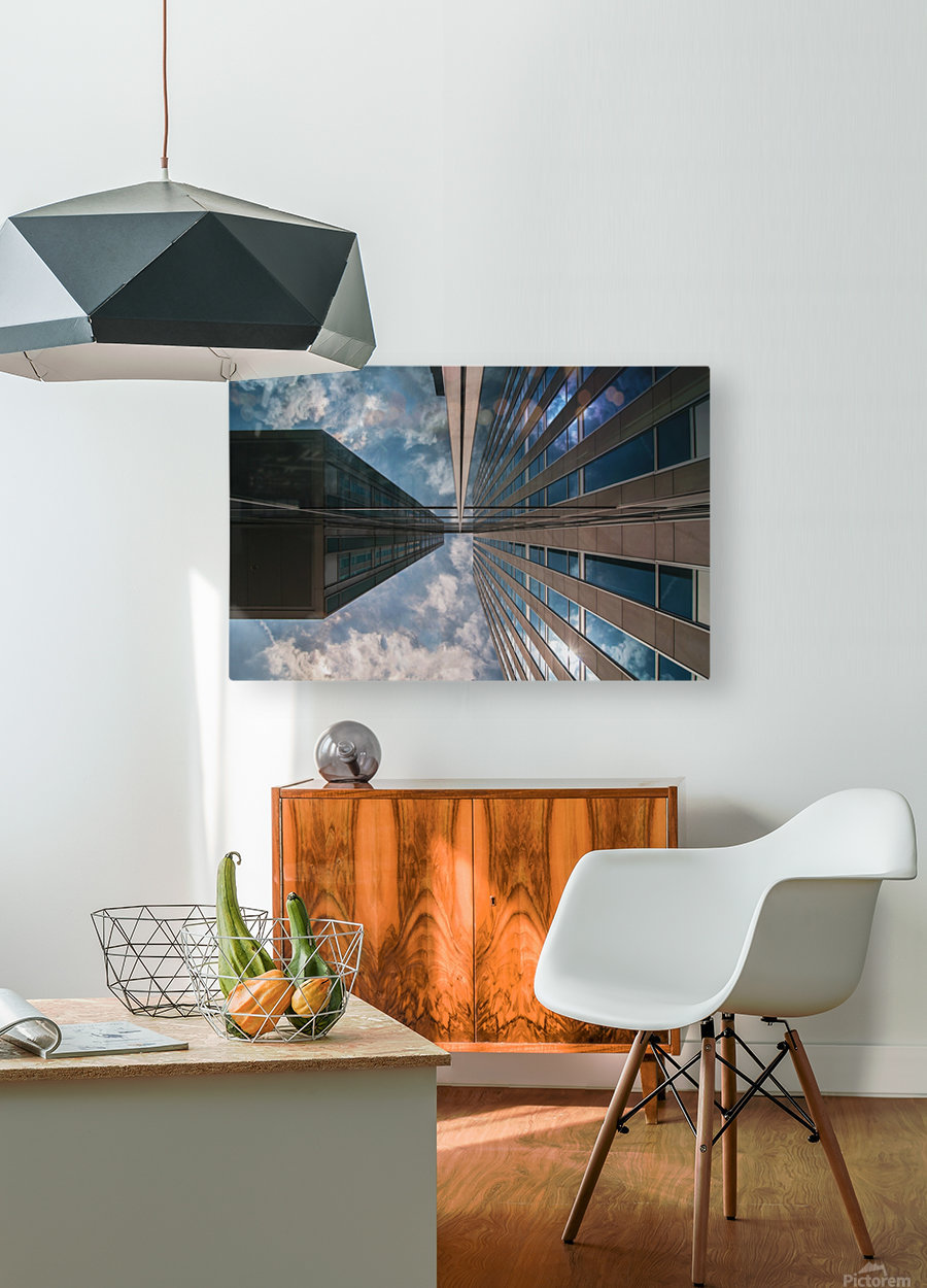 Meeting point  HD Metal print with Floating Frame on Back