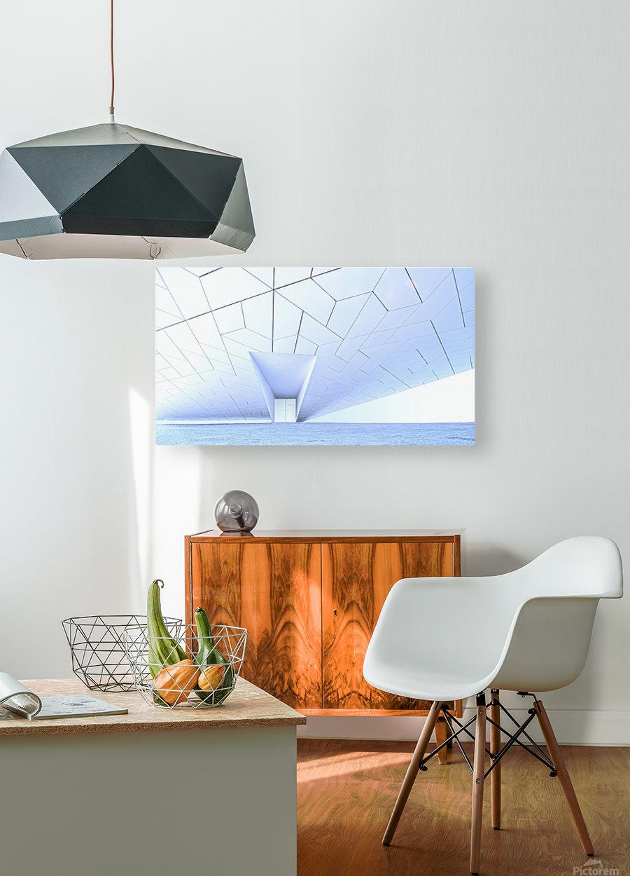 side entrance  HD Metal print with Floating Frame on Back