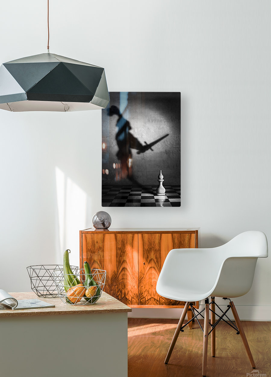 The heart of a knight  HD Metal print with Floating Frame on Back