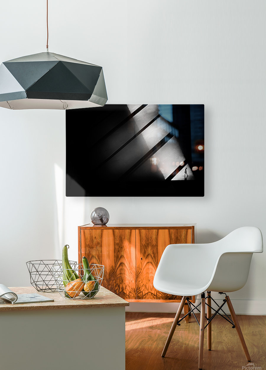 Crossing  HD Metal print with Floating Frame on Back