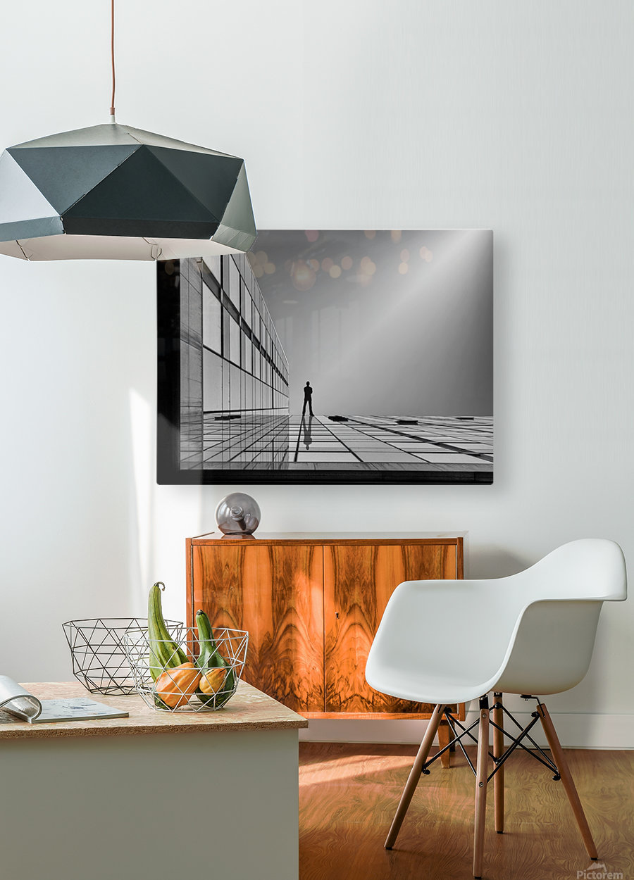 The evolution of space ...  HD Metal print with Floating Frame on Back