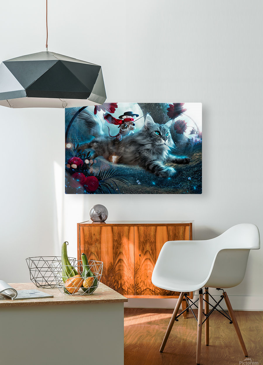 The Hero  HD Metal print with Floating Frame on Back