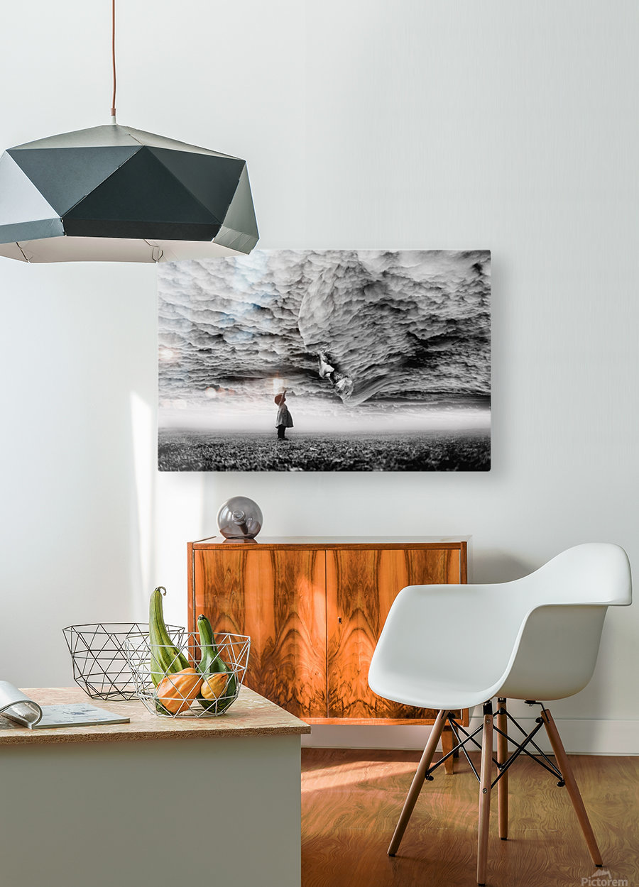 hello grandpa  HD Metal print with Floating Frame on Back