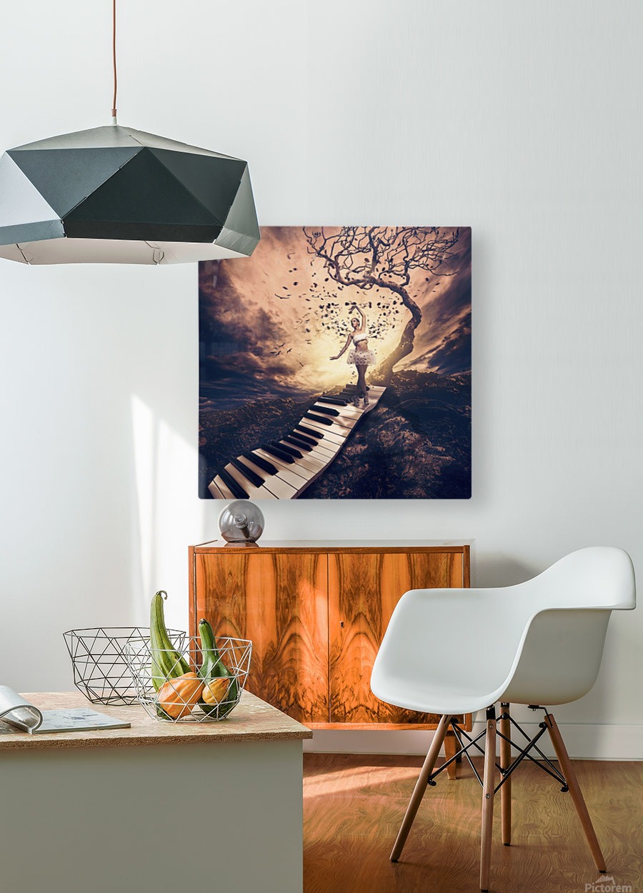 Rhapsody  HD Metal print with Floating Frame on Back