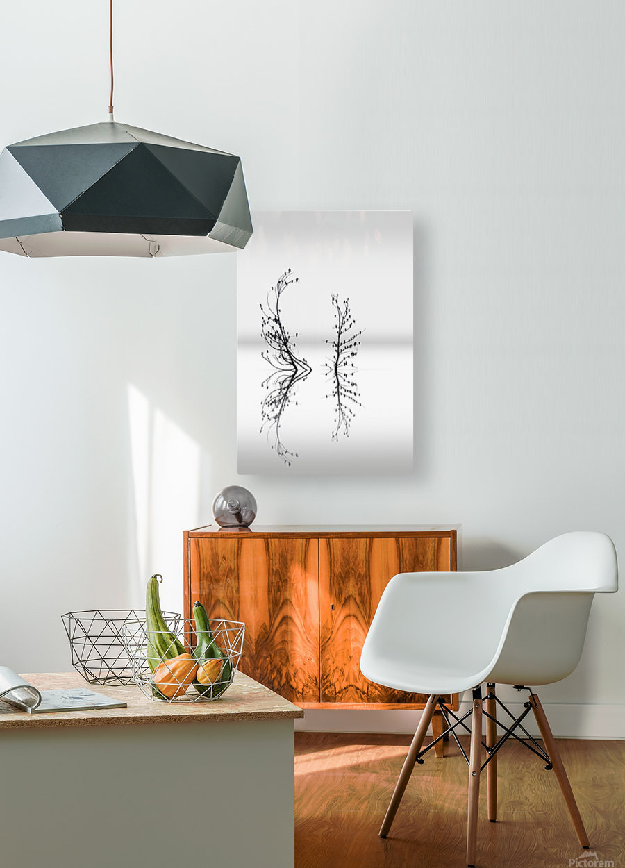 Trees with Birds (2)  HD Metal print with Floating Frame on Back
