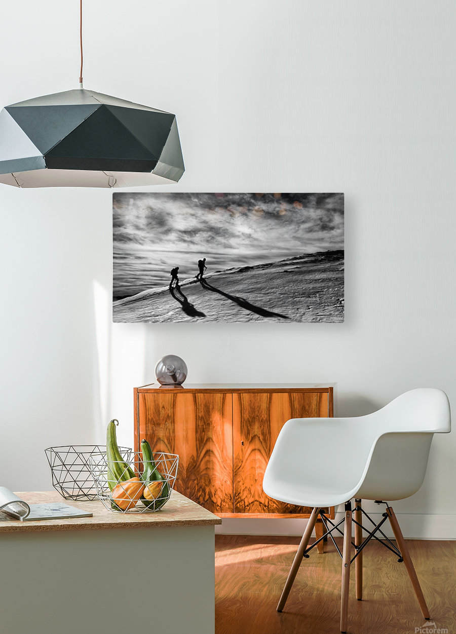 Step by step  HD Metal print with Floating Frame on Back