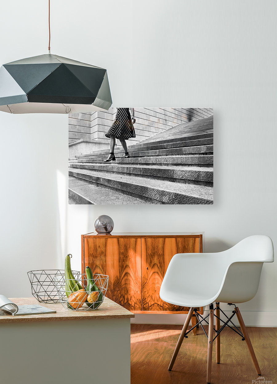Escape Myself  HD Metal print with Floating Frame on Back
