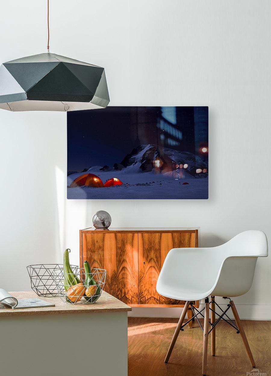 Alpine Start  HD Metal print with Floating Frame on Back
