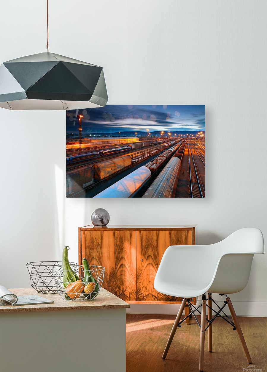 Freight station  HD Metal print with Floating Frame on Back