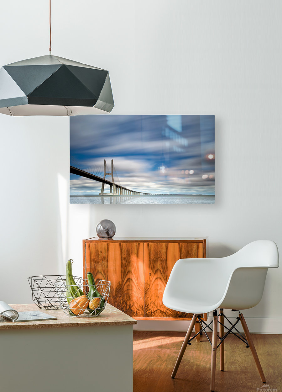 in BLUE  HD Metal print with Floating Frame on Back
