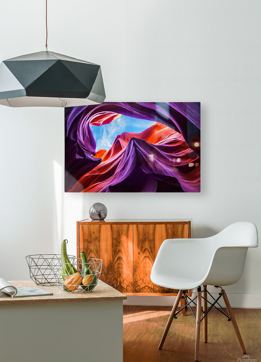 Magical Lower Antelope Canyon  HD Metal print with Floating Frame on Back