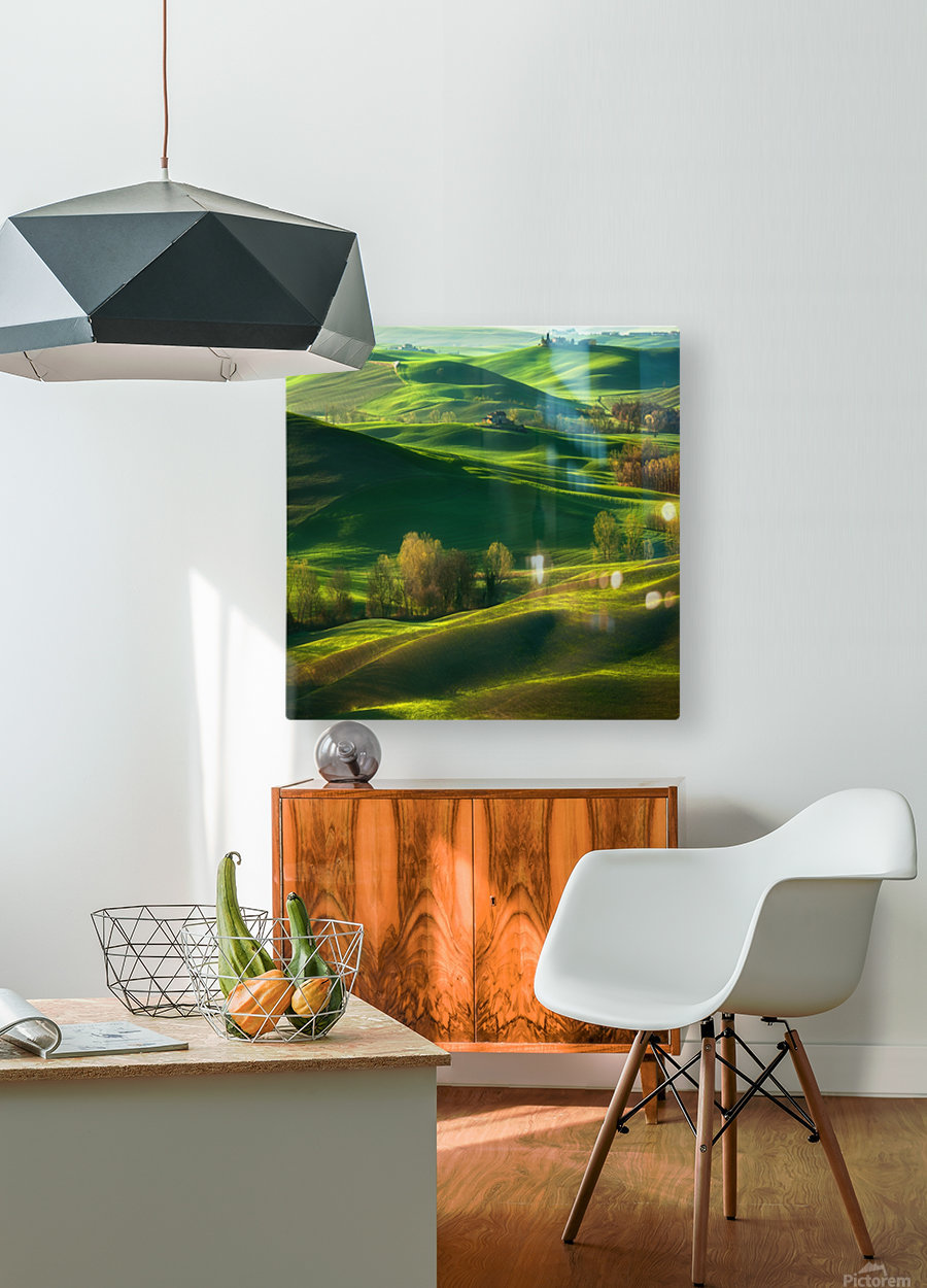 Valley...  HD Metal print with Floating Frame on Back