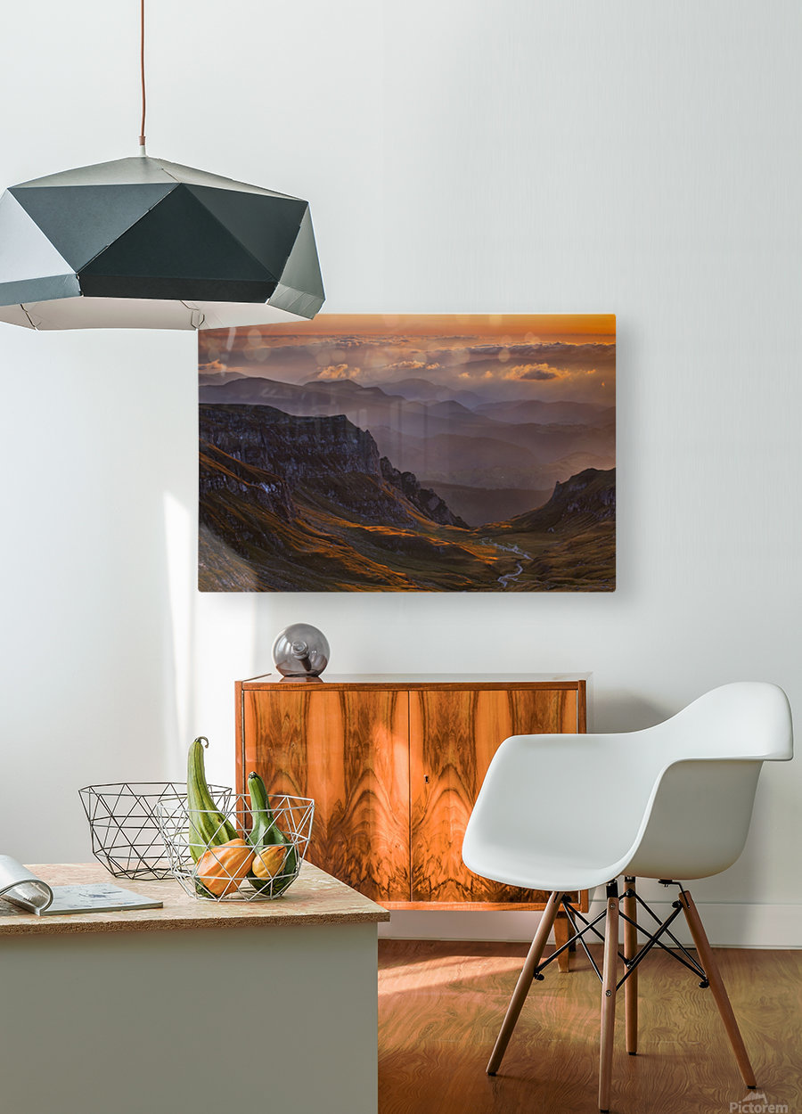 vantage point  HD Metal print with Floating Frame on Back