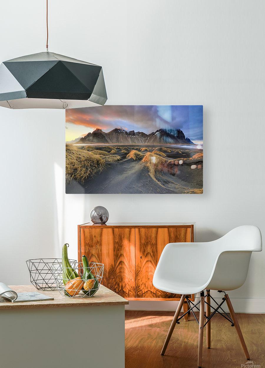 Vestrahorn  HD Metal print with Floating Frame on Back