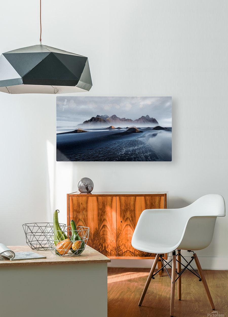 Stokksnes  HD Metal print with Floating Frame on Back