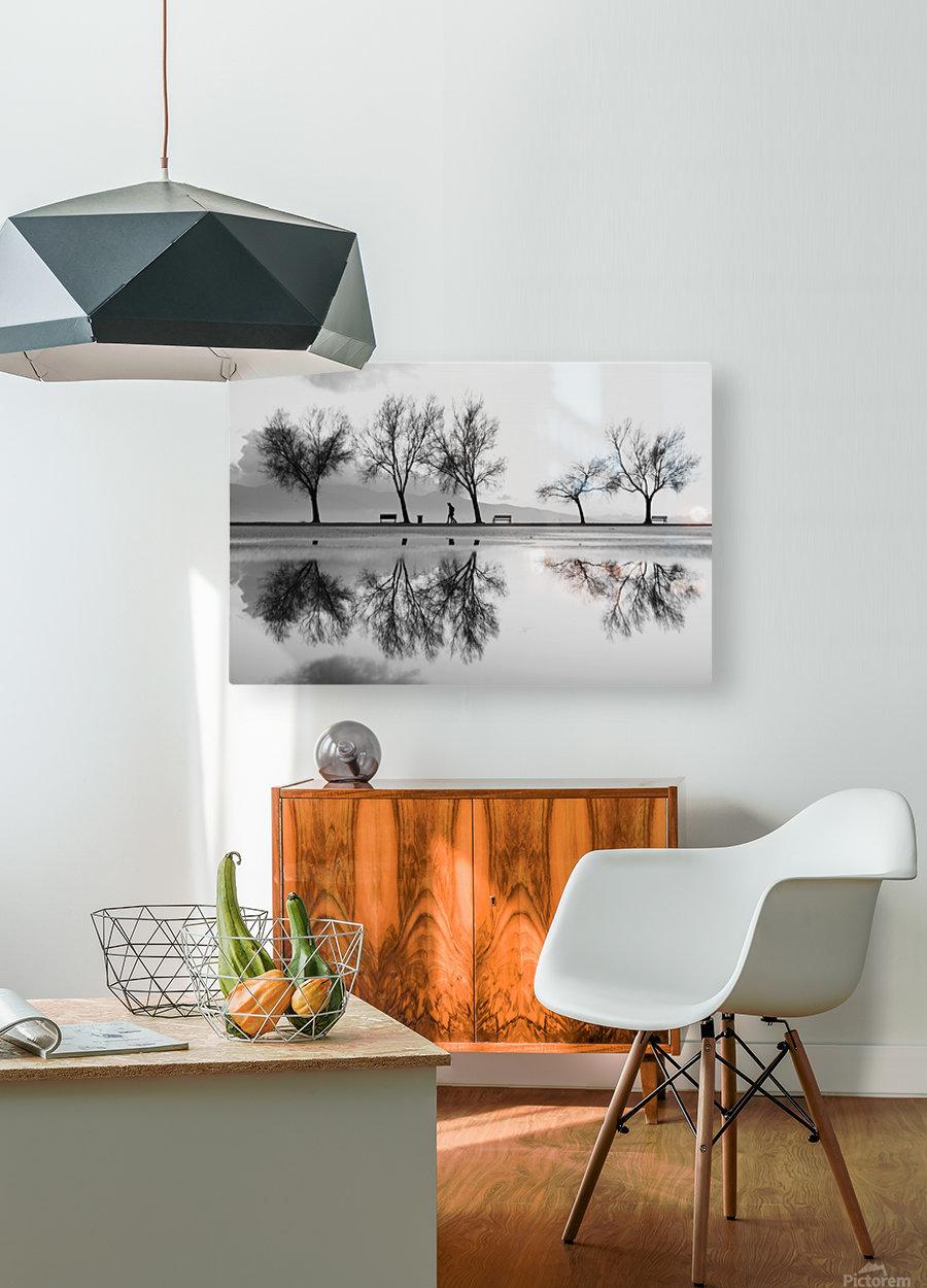KarAŸA±yaka'dan Bir YansA±ma  HD Metal print with Floating Frame on Back