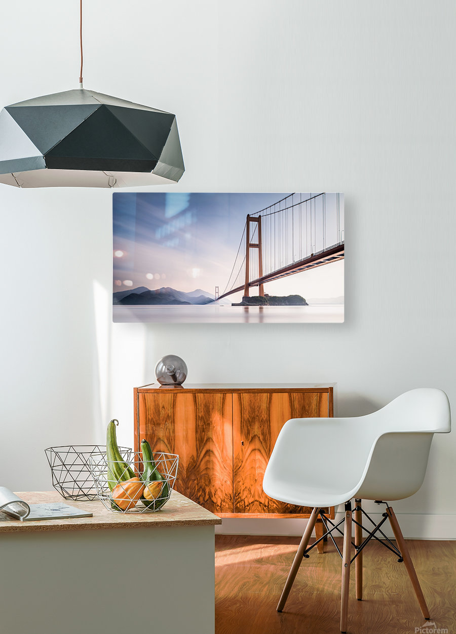 Xihou Bridge & Moon Bay  HD Metal print with Floating Frame on Back