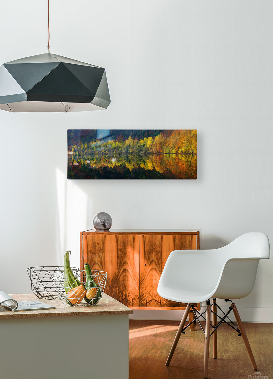 Autumnal silence  HD Metal print with Floating Frame on Back