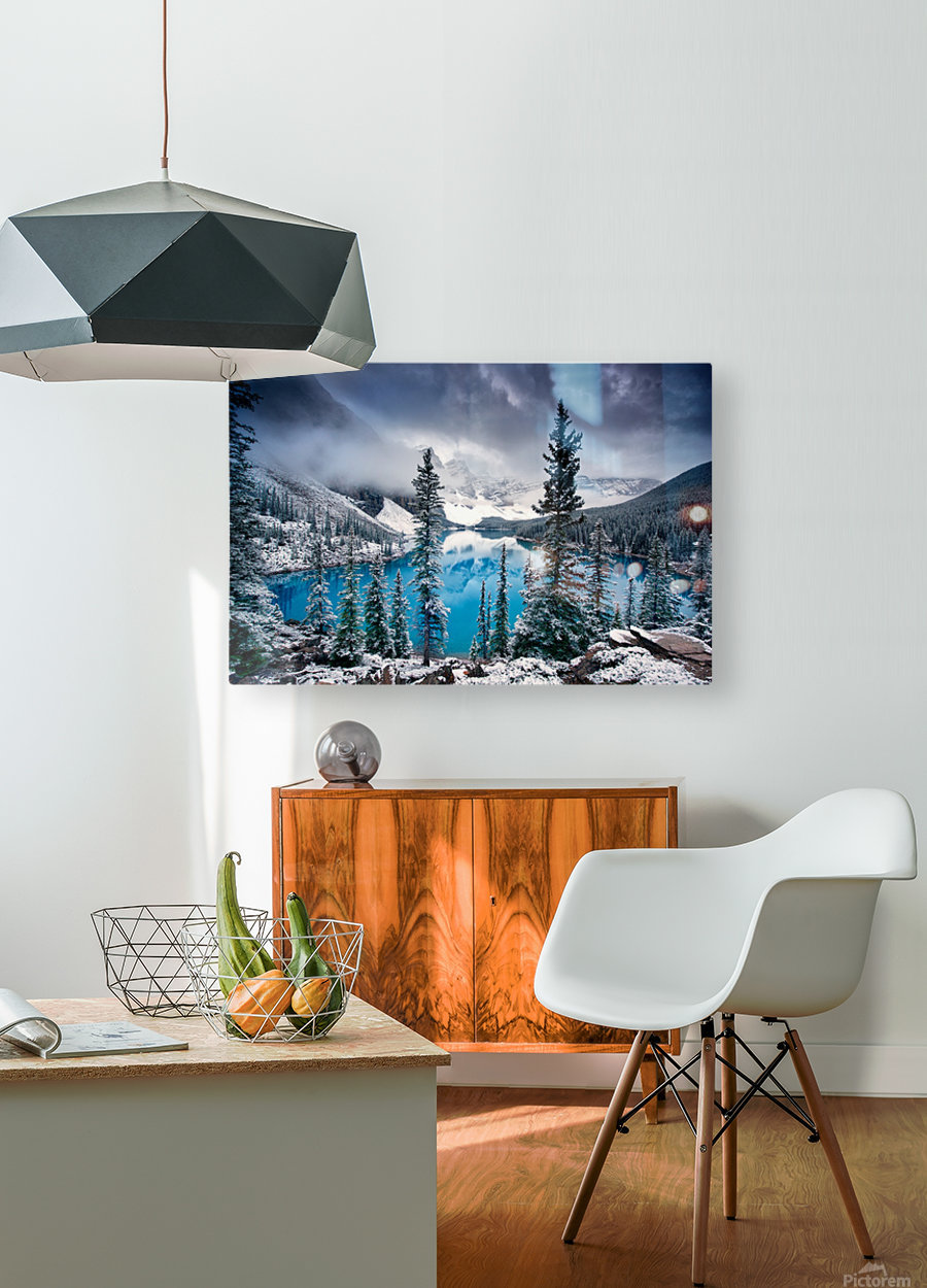 Morning blues  HD Metal print with Floating Frame on Back