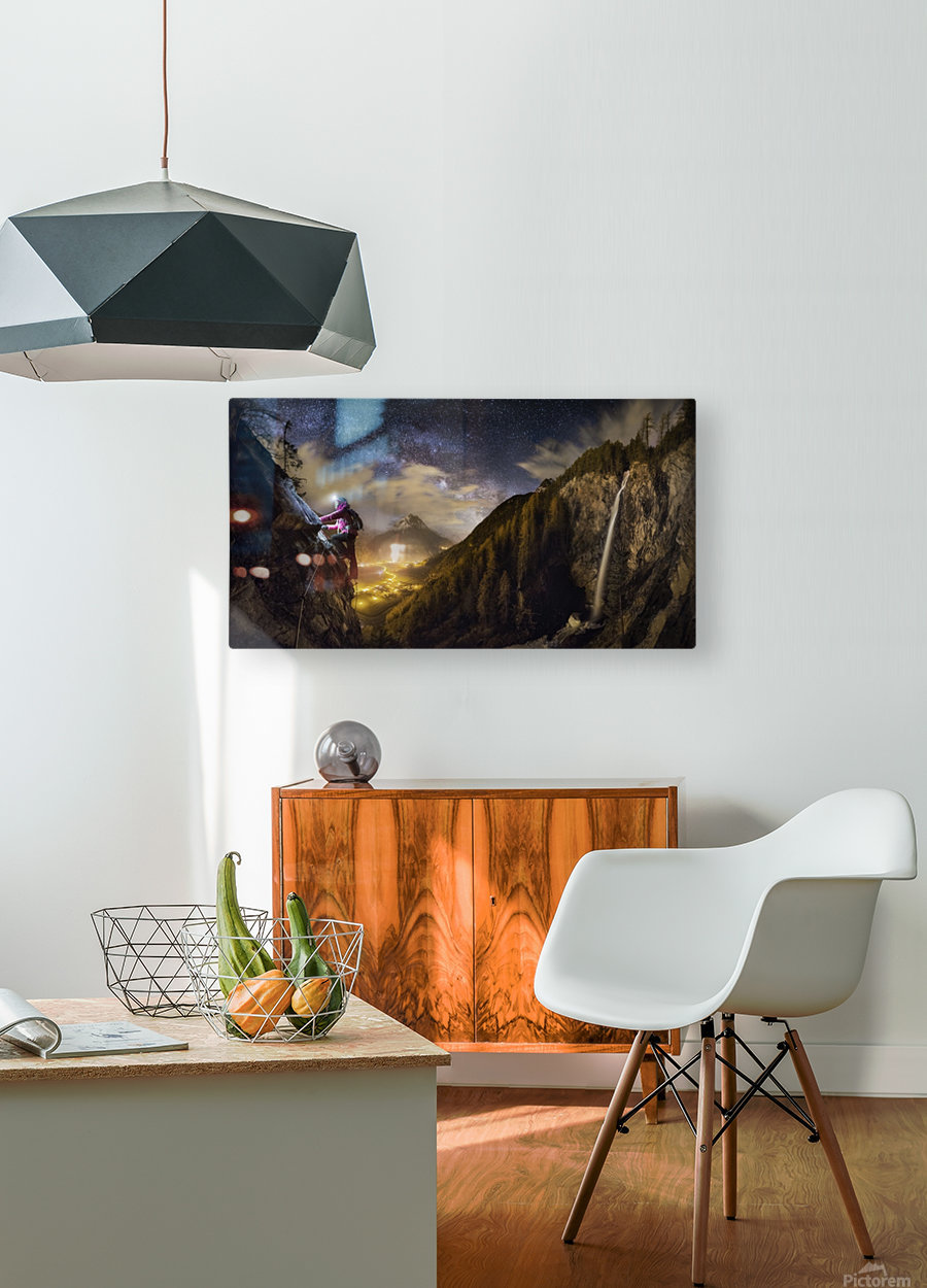 The Climb  HD Metal print with Floating Frame on Back