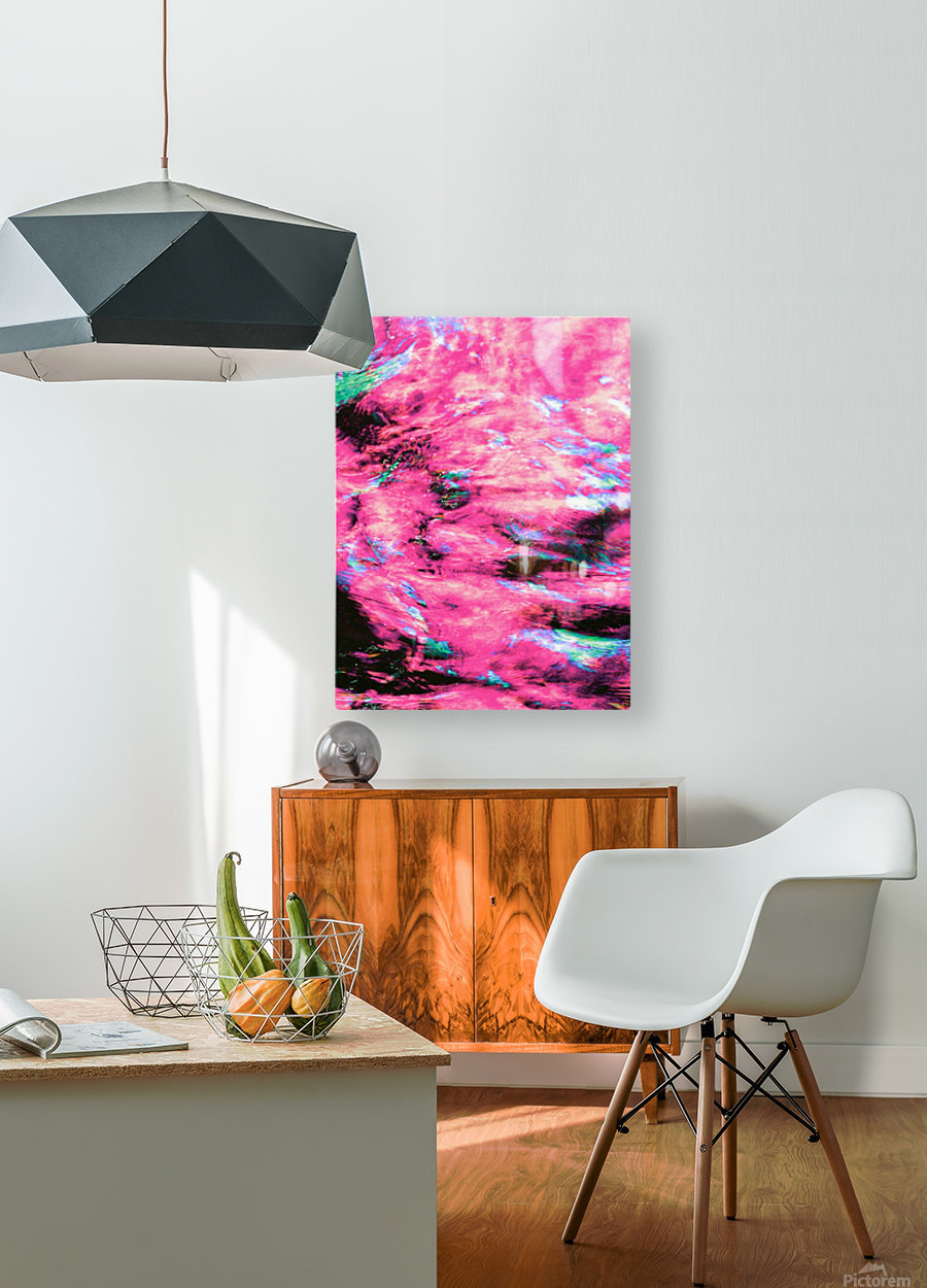 The Flock Pink  HD Metal print with Floating Frame on Back