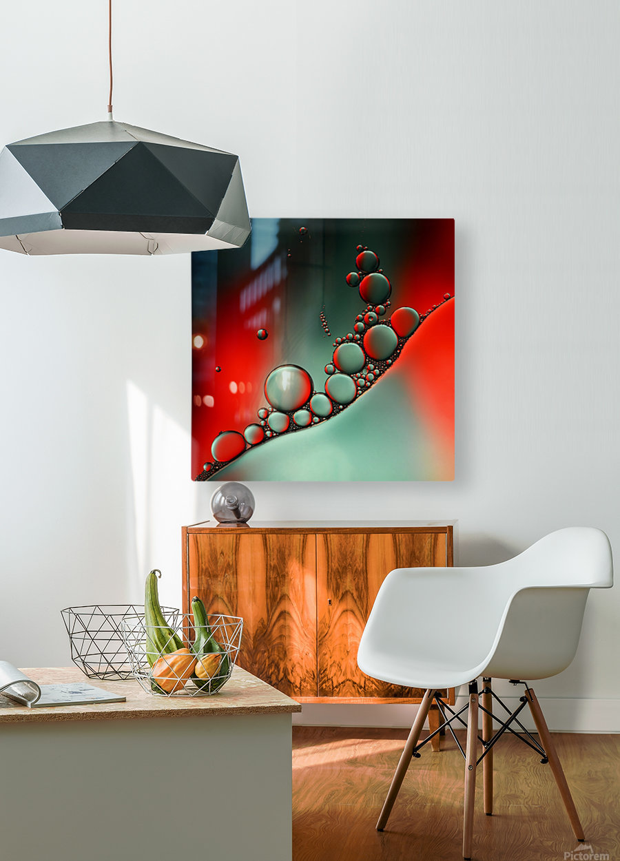 Color adaptation  HD Metal print with Floating Frame on Back