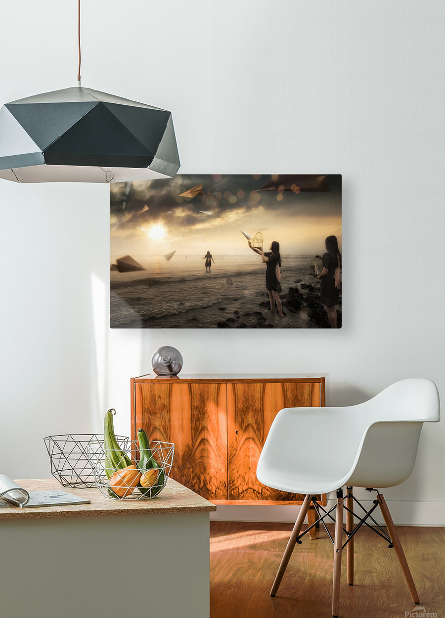 Released  HD Metal print with Floating Frame on Back