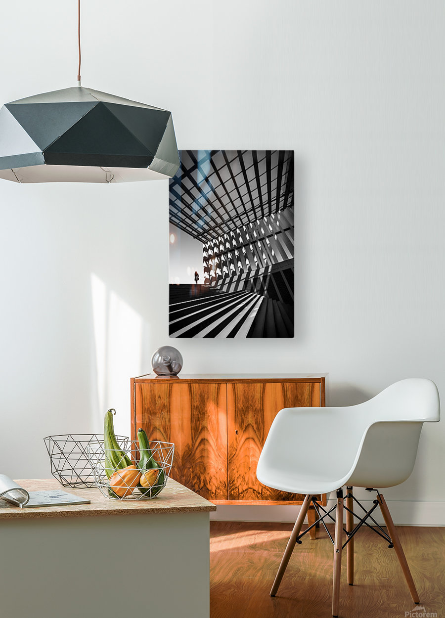 Drifting  HD Metal print with Floating Frame on Back