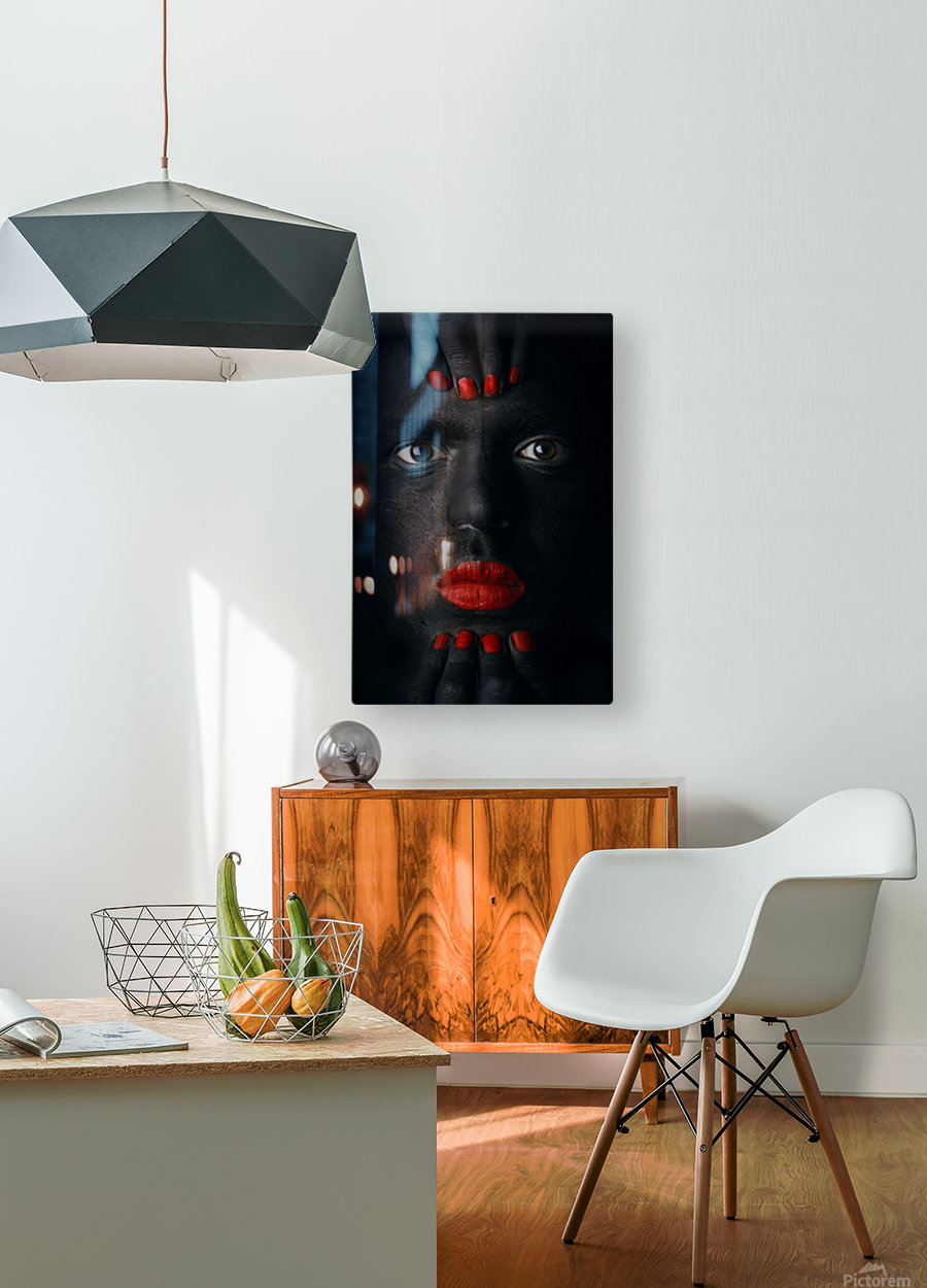G l a n c e ..  HD Metal print with Floating Frame on Back
