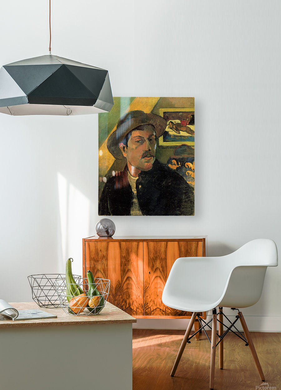 Self Portrait by Gauguin  HD Metal print with Floating Frame on Back