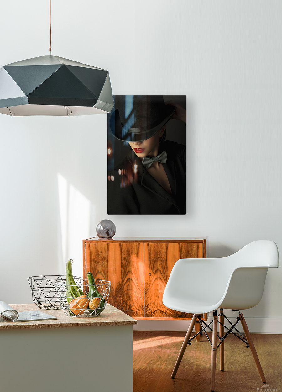 Mystery under the topper  HD Metal print with Floating Frame on Back